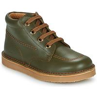 Shoes Boy Mid boots Citrouille et Compagnie PIMON Green