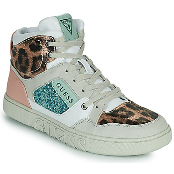 Shoes Women Hi top trainers Guess JUSTISE White