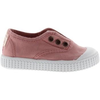 Shoes Girl Tennis shoes Victoria Baskets fille  1915 anglaise toile lavée rose foncé