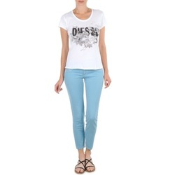 Clothing Women Cropped trousers Diesel LIVIER-ANKLE Blue