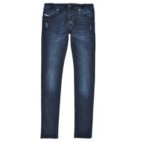 Clothing Boy Skinny jeans Diesel SLEENKER Blue / Dark