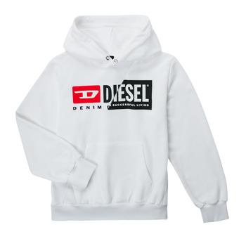 Clothing Children Sweaters Diesel SGIRKHOODCUTYX OVER White