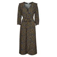 Clothing Women Long Dresses Vila VIZUGI Black / Yellow / Blue