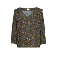 Clothing Women Tops / Blouses Vila VIZUGI Black / Yellow / Blue
