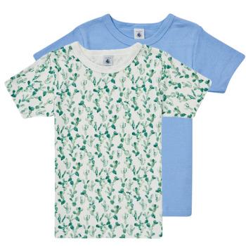 Clothing Boy Short-sleeved t-shirts Petit Bateau LOLITA Multicolour