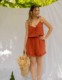Clothing Women Jumpsuits / Dungarees Céleste NEROLI Terracotta