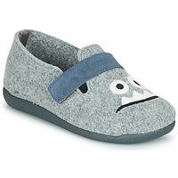 Shoes Boy Slippers Citrouille et Compagnie POIVA Grey
