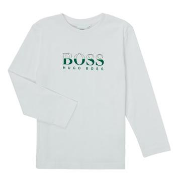 Clothing Boy Long sleeved tee-shirts BOSS SOPELAS White