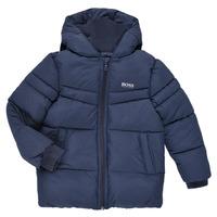 Clothing Boy Duffel coats BOSS DOLINA Marine