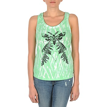 Clothing Women Tops / Sleeveless T-shirts Eleven Paris PAPILLON DEB W Green / White