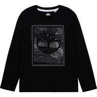Clothing Boy Long sleeved tee-shirts Timberland AIFRET Black