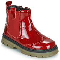 Shoes Girl Mid boots Citrouille et Compagnie PATATA Red / Varnish
