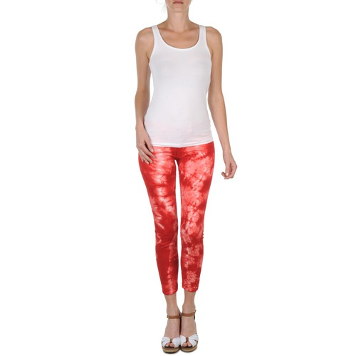 Clothing Women Cropped trousers Eleven Paris DAISY Red / White