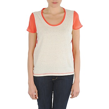 Clothing Women short-sleeved t-shirts Eleven Paris EDMEE White / Orange