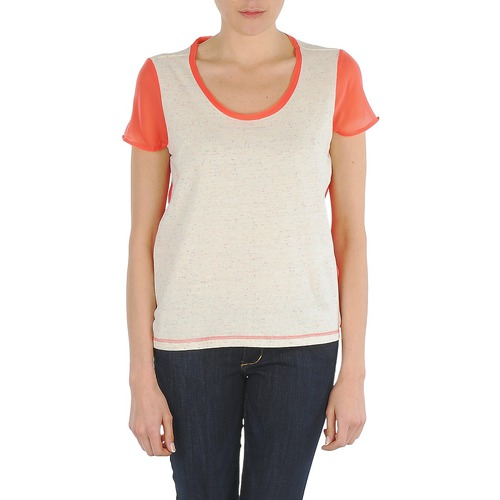 Clothing Women short-sleeved t-shirts Eleven Paris EDMEE Beige / Orange