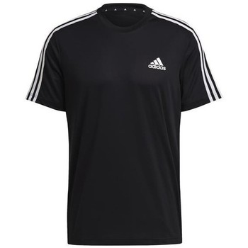Clothing Men Short-sleeved t-shirts adidas Originals Aeroready Designed TO Move Sport 3STRIPES Tee Black