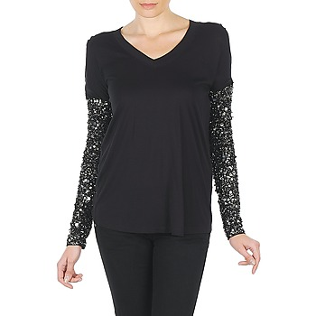Clothing Women Long sleeved tee-shirts Manoush TSHIRT ML INDIAN BASIC Black