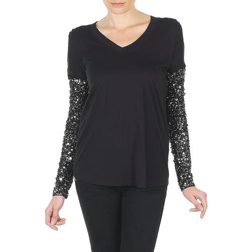 Clothing Women Long sleeved tee-shirts Manoush TSHIRT ML INDIAN BASIC Black