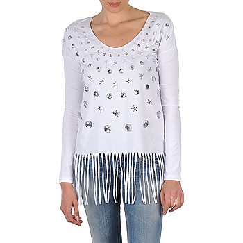 Clothing Women Long sleeved tee-shirts Manoush TUNIQUE LIANE White