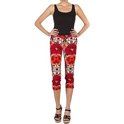 Clothing Women Cropped trousers Manoush PANTALON POPPY Red