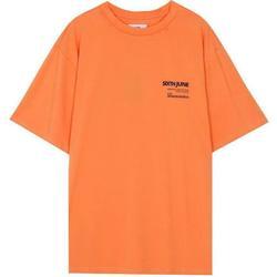 Clothing Men Short-sleeved t-shirts Sixth June T-shirt  barcode orange