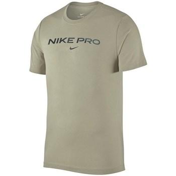 Clothing Men Short-sleeved t-shirts Nike Pro Tshirt Olive