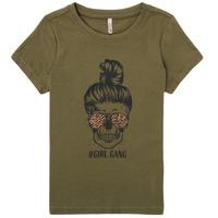 Clothing Girl Short-sleeved t-shirts Only KONKITA Kaki