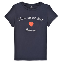 Clothing Girl Short-sleeved t-shirts Name it NKFKLORA SS TOP Marine