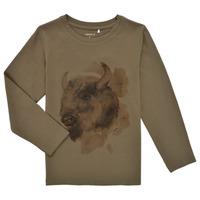 Clothing Boy Long sleeved tee-shirts Name it NMMKEVIN LS TOP Kaki