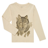 Clothing Boy Long sleeved tee-shirts Name it NMMKEVIN LS TOP Beige