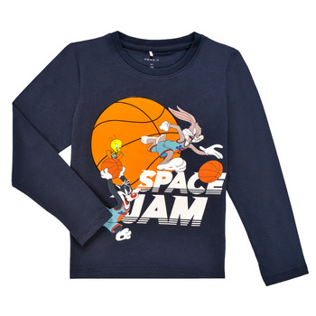 Clothing Boy Long sleeved tee-shirts Name it NMMSPACEJAM ARNE LS TOP Marine