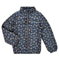 Clothing Girl Duffel coats Name it NKFMENE FLOWER JACKET Marine