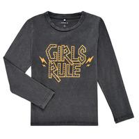 Clothing Girl Long sleeved tee-shirts Name it NKFNEBEL LS TOP Black