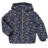 Clothing Girl Duffel coats Name it NMFMAY PUFFER JACKET Marine / Multicolour