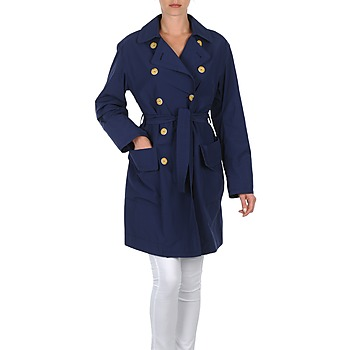 Clothing Women Trench coats Lola MALIN VENTO Marine