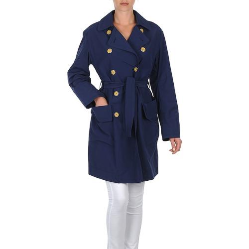 Clothing Women Trench coats Lola MALIN VENTO Marine