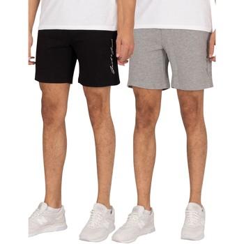 Clothing Men Shorts / Bermudas Jack & Jones 2 Pack Ombre Sweat Shorts multicoloured