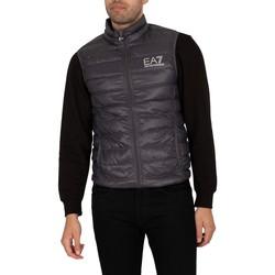 Clothing Men Duffel coats Emporio Armani EA7 Down Gilet black