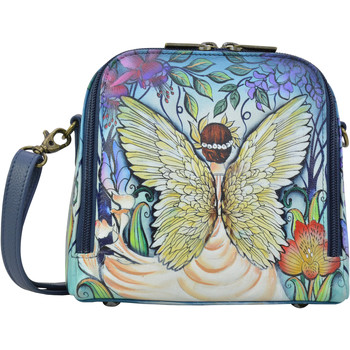 Bags Women Shoulder bags Anuschka 668 Enchanted Garden-RFID Block Hand Painted Leather Multicolour