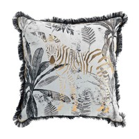 Home Cushions Douceur d intérieur ZEBRION White