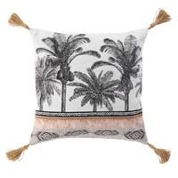 Home Cushions covers Douceur d intérieur URBAN SAFARI White