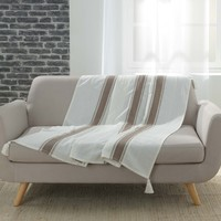 Home Blankets, throws Douceur d intérieur INDIRA Taupe