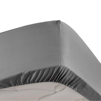 Home Fitted sheet Douceur d intérieur PERCALINE Anthracite