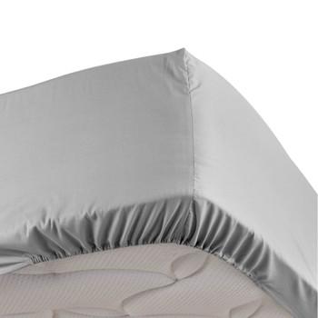 Home Fitted sheet Douceur d intérieur PERCALINE Grey