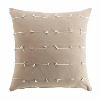 Home Cushions covers Douceur d intérieur FILEO Taupe