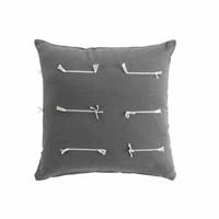 Home Cushions covers Douceur d intérieur FILEO Anthracite