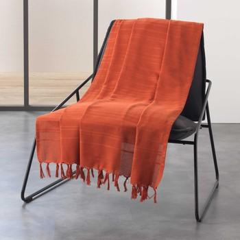 Home Blankets, throws Douceur d intérieur LILIA Terracotta