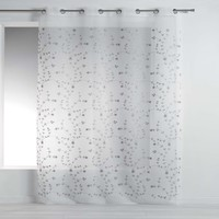 Home Curtains & blinds Douceur d intérieur PETITE FLEUR White / Grey