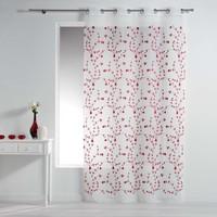 Home Curtains & blinds Douceur d intérieur PETITE FLEUR White / Red