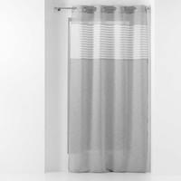 Home Sheer curtains Douceur d intérieur SICILIA Grey